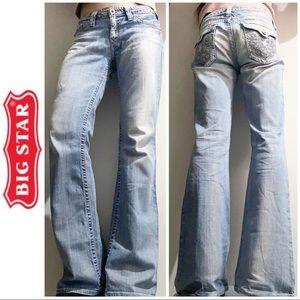 Big Star Light Wash Sweet Low Boot Cut Jeans 29 8